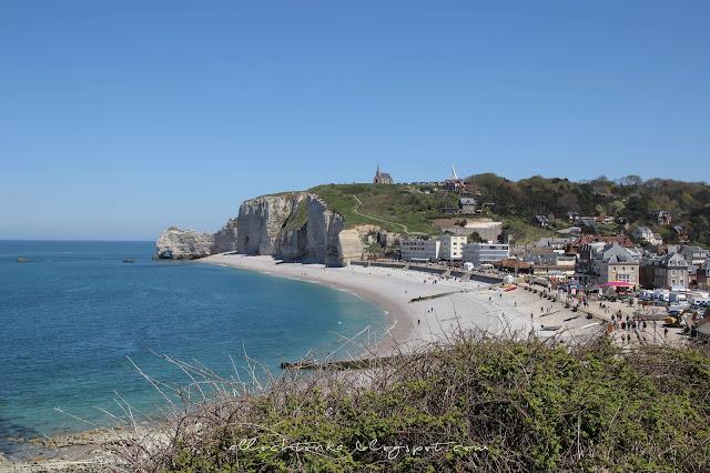 Panorama Etretat w Normandii
