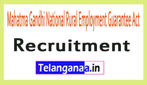 Mahatma Gandhi National Rural Employment Guarantee Act MGNREGA Recruitment