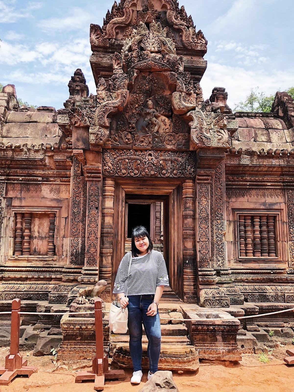 Ton posing inside Banteay Srei