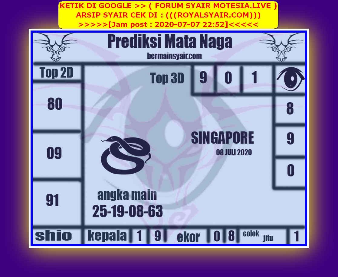 Kode syair Singapore Rabu 8 Juli 2020 224