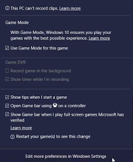 Setting Game Mode di Windows 10 Creators