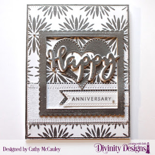 Divinity Designs Stamp/Die Duos: Happy, Paper Collection: Wedding Wishes, Custom Dies: Scalloped Squares, Pierced Squares, Pierced Heart, Layering Hearts, Pierced Rectangles, Treat Tags