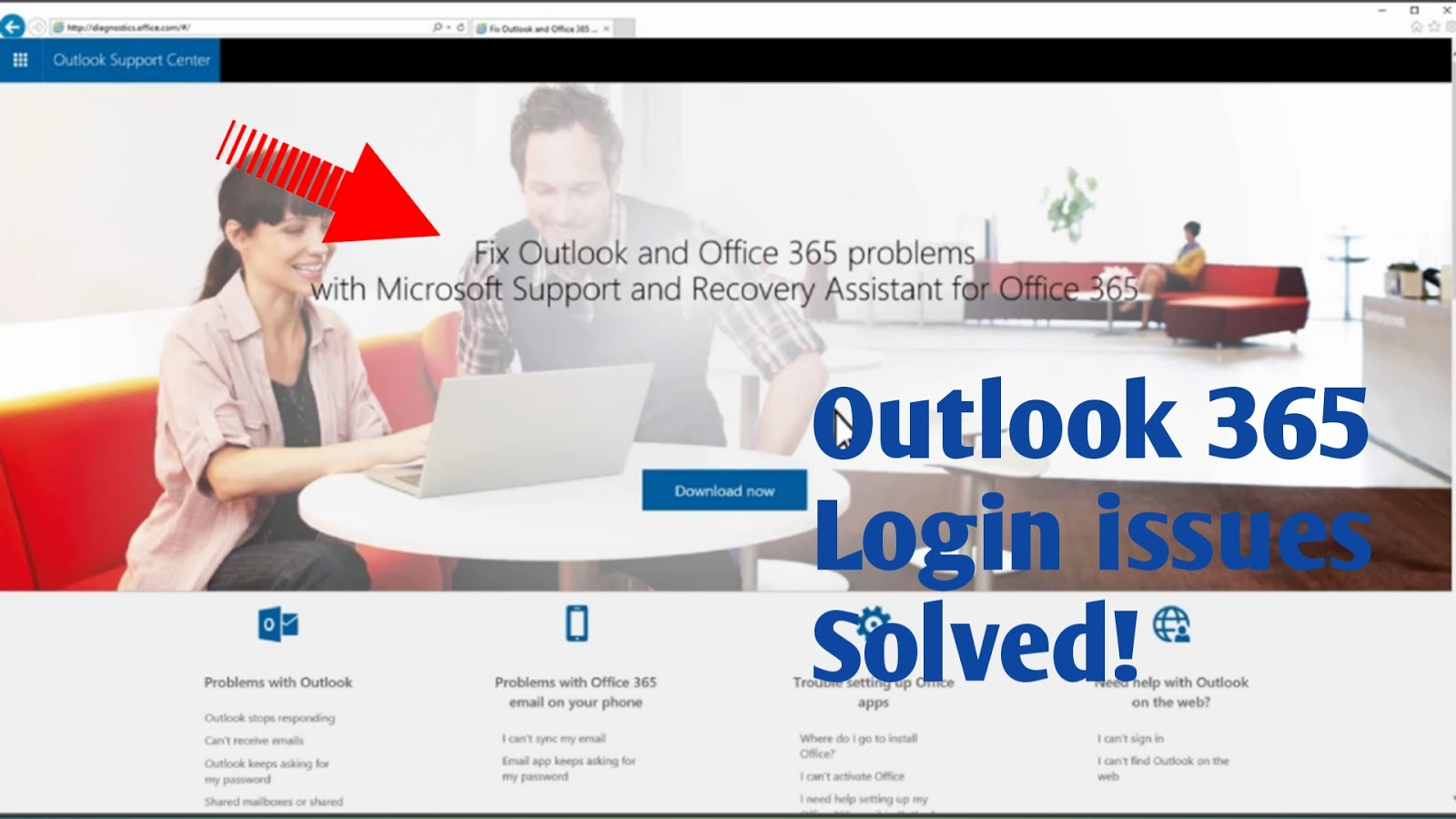Outlook 365 login issues solved | Fix outlook 365 problem