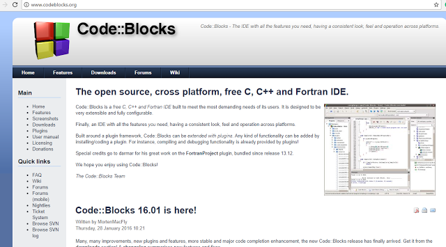 How to Install Codeblocks IDE on windows 7 ,8 and 10? ~ Starting