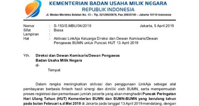 Beredar Surat Pegawai BUMN Wajib Kumpul di Jakarta, Hadiri Kampanye Akbar Jokowi?