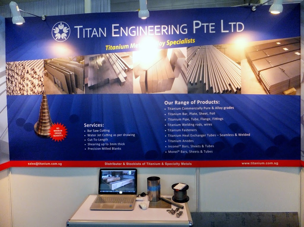 Titanium Metal and Alloy Supplier Singapore: MTA Singapore Exhibition