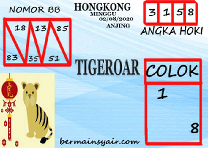 Kode syair Hongkong Minggu 2 Agustus 2020 188