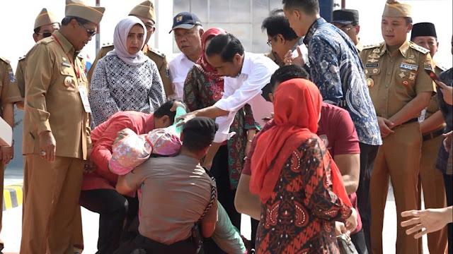Bersimpuh dan Pingsan di Kaki Jokowi, Nur Halimah Dapat Ganti Rugi Lahan Tol