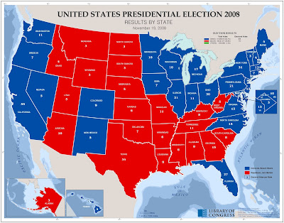 US Elections results 2008