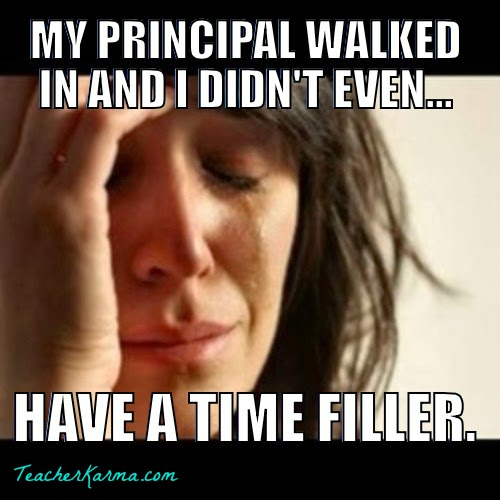 How to use time fillers in your classroom.  TeacherKarma.com