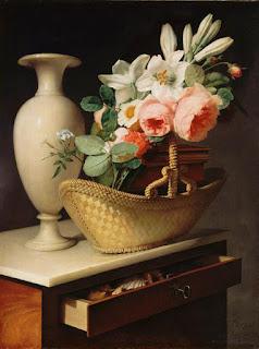 Antoine Berjon (1754-1843) - Roses et lis - 1814 - Louvre