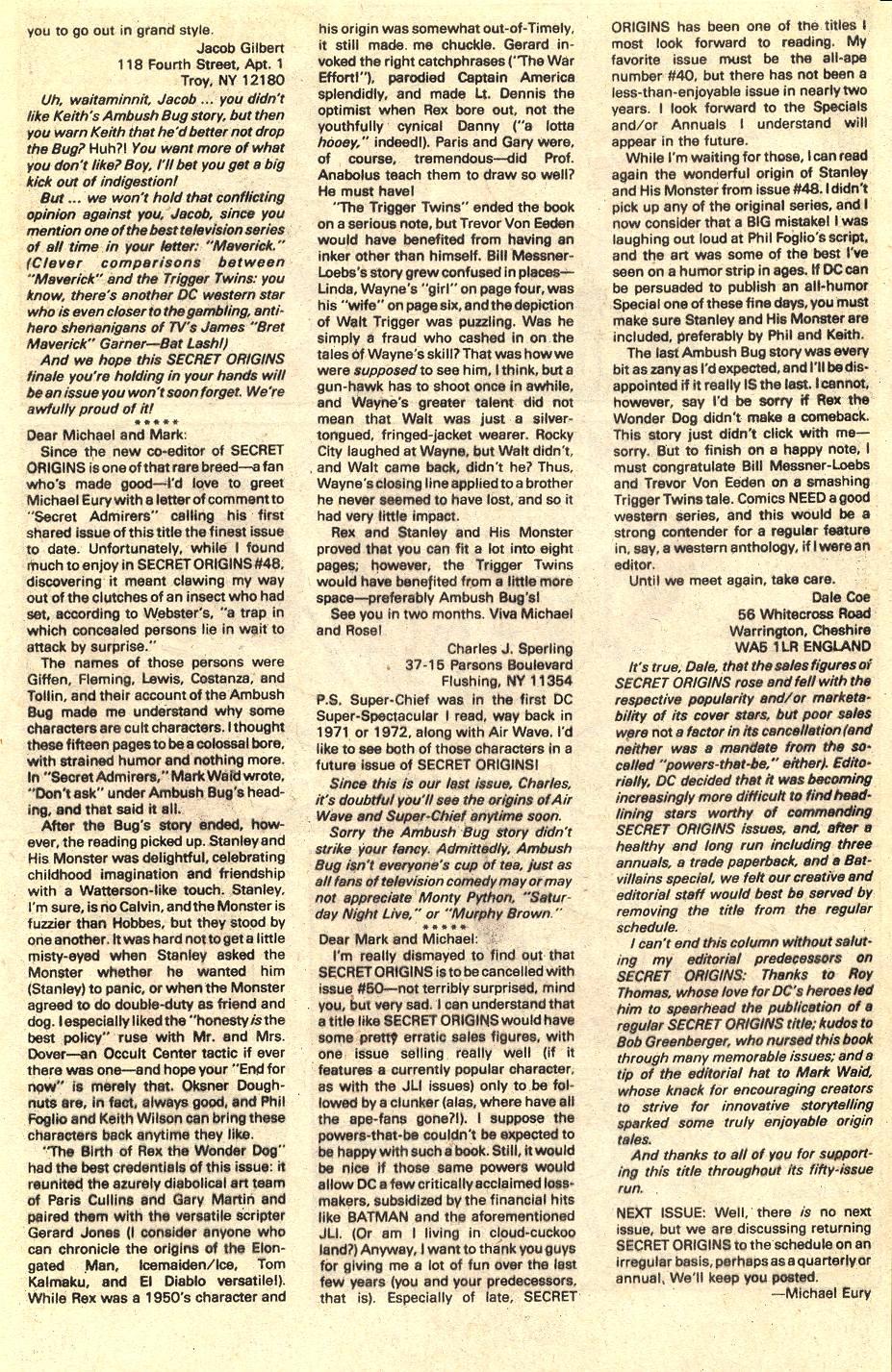 Read online Secret Origins (1986) comic -  Issue #50 - 98