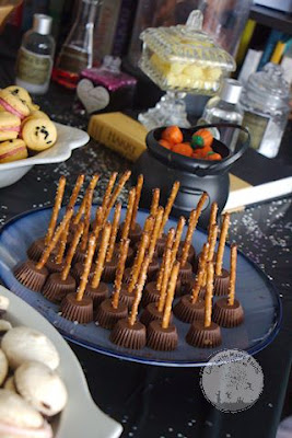 Cute little broomsticks and lemon drops perfect for Hogwarts