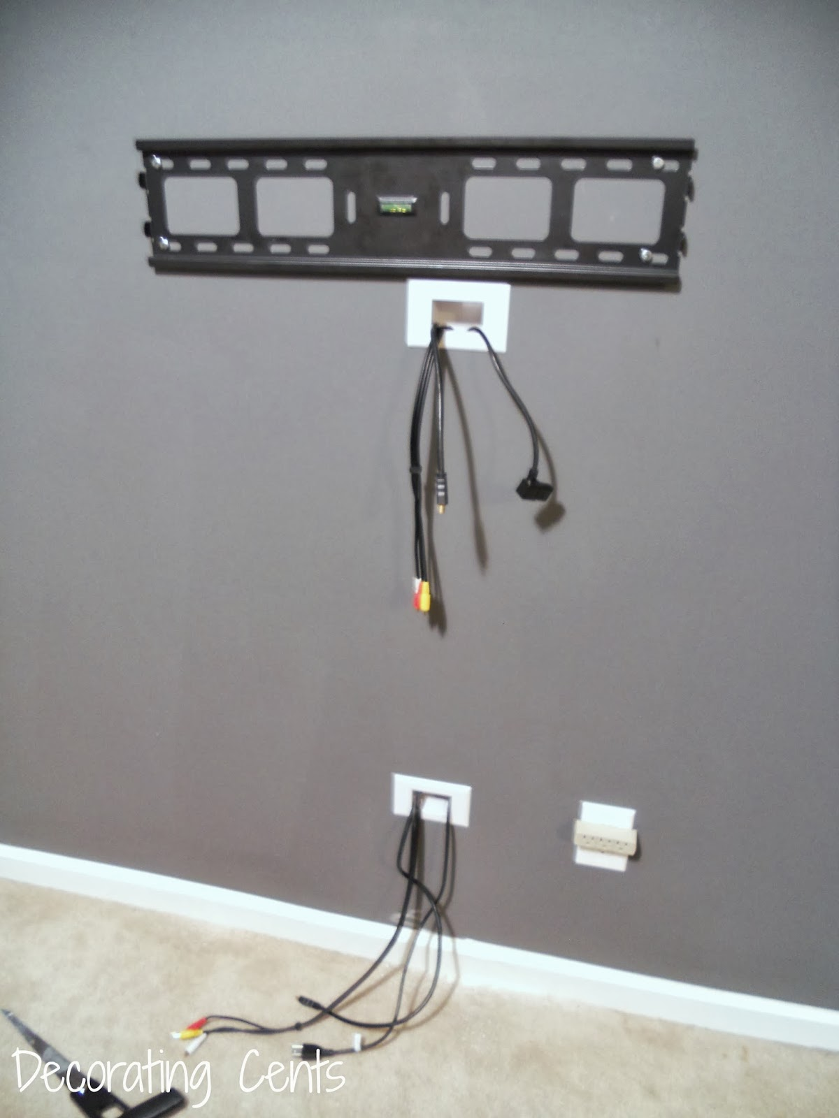 How To Put A Tv On A Wall Wall Mounted Tv And Hiding The Cords