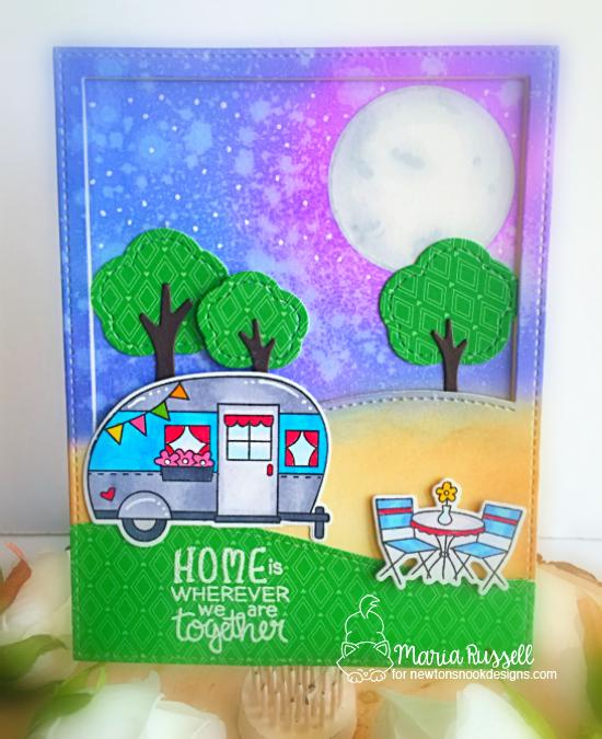 Camper Card by Maria Russell | Cozy Campers Stamp Set by Newton's Nook Designs #newtonsnook #handmade