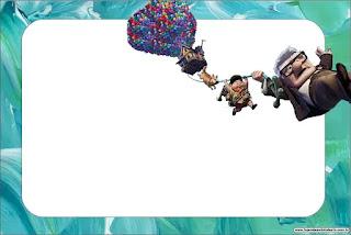 Película de Pixar Up: Invitaciones para Imprimir Gratis.