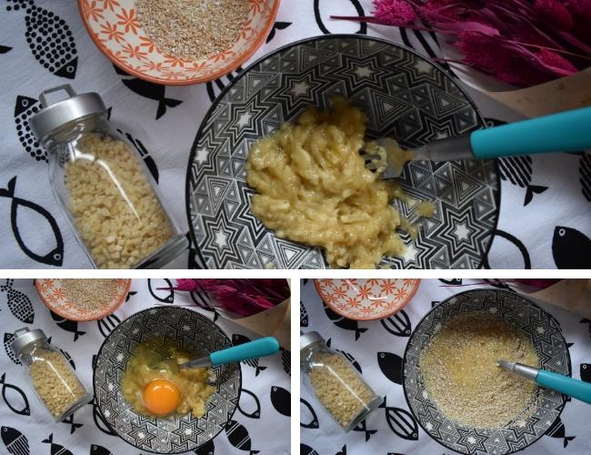 Tortitas de plátano y avena sin azúcar, ni lactosa