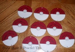 Pokeball Invitations for a Pokemon Party