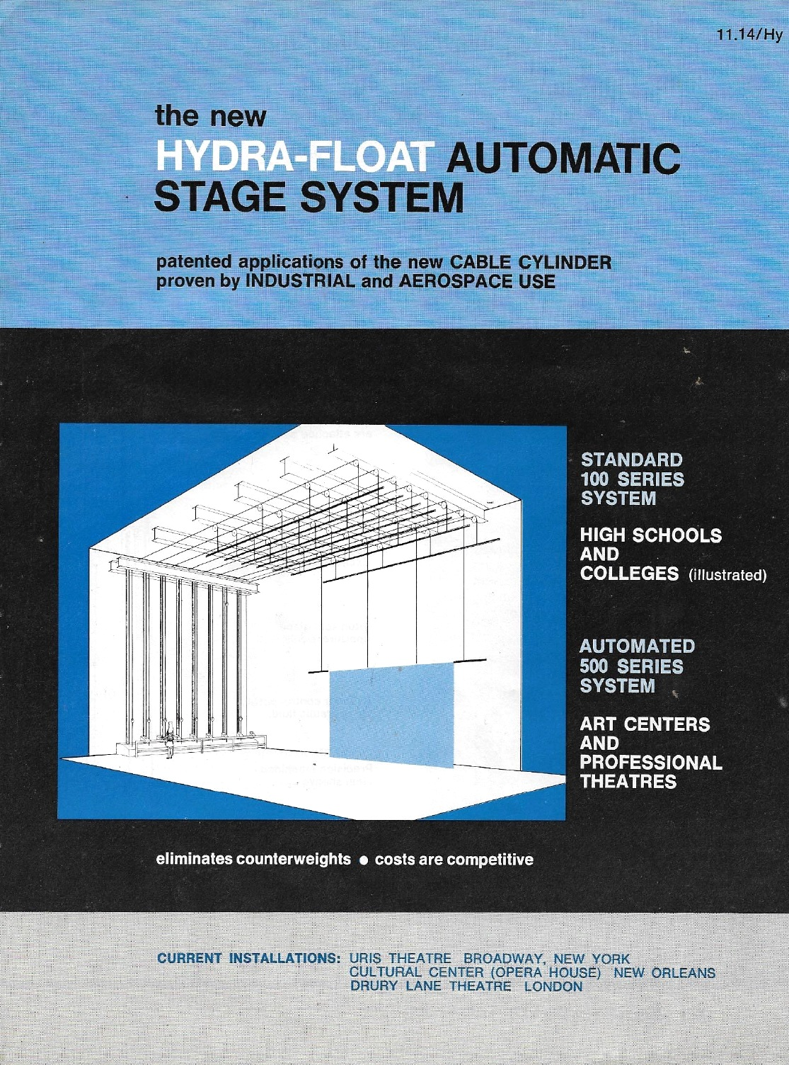 VINTAGE THEATRE CATALOGS: HYDRA FLOAT AUTOMATIC STAGE SYSTEM