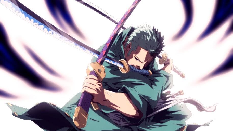 Roronoa Zoro, 3 Sword Style, Katana, One Piece, 4K, #6.53
