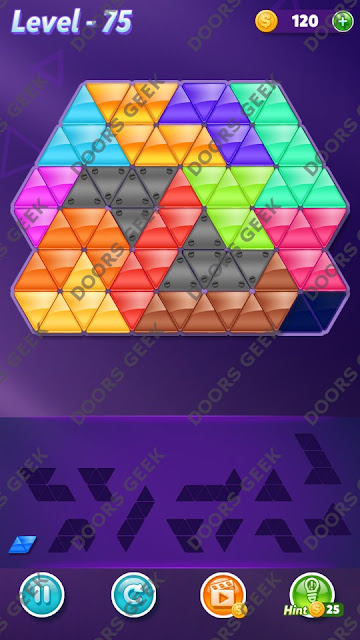 Block! Triangle Puzzle Grandmaster Level 75 Solution, Cheats, Walkthrough for Android, iPhone, iPad and iPod
