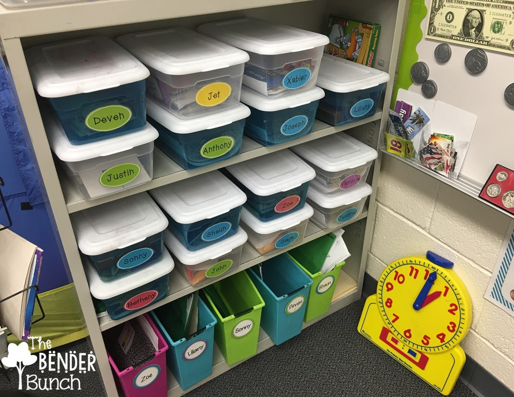Classroom Organization Ideas For Special Education ~ The bender bunch iep tubs