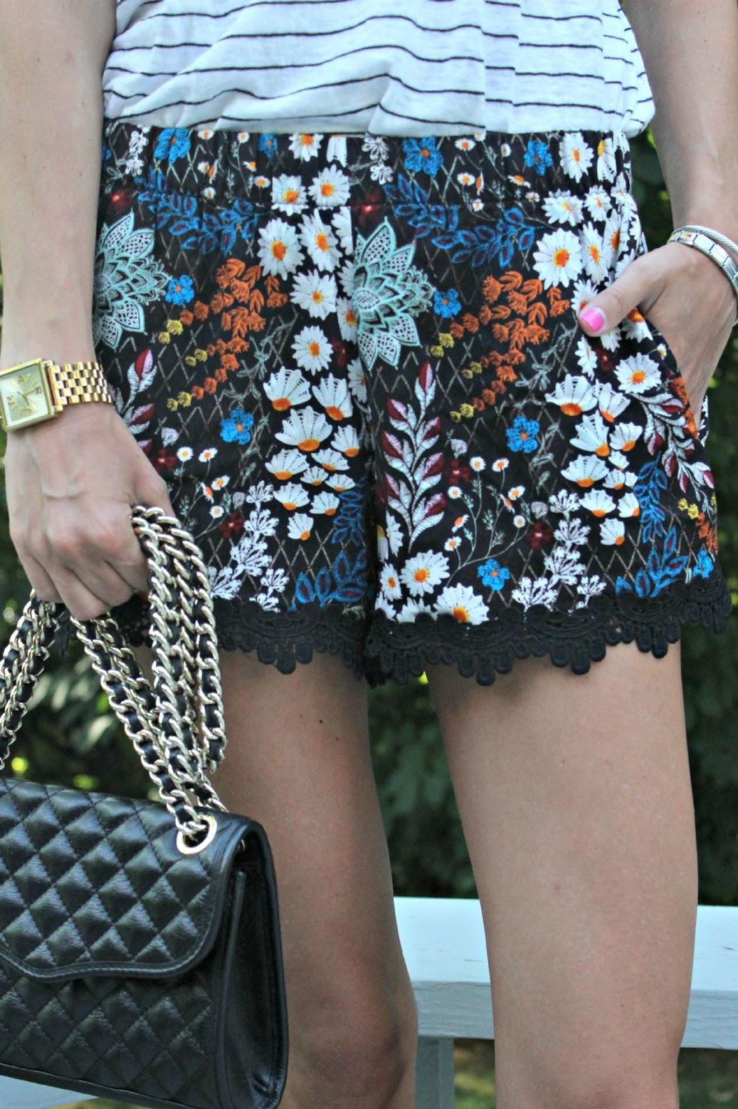harmony & havoc floral print shorts