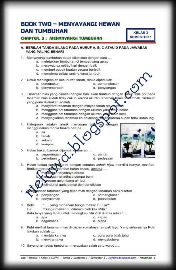 Soal Kelas 3 Tema 2 : kelas, Download, Tematik, Kelas, Subtema, Edisi, Revisi, Semester