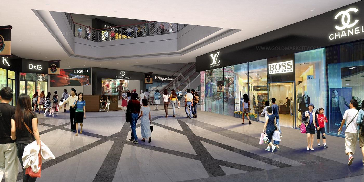 Trung tâm thương mại tại chung cư One18 đảm bảo nhu cầu mua sắm năng động của cư dân