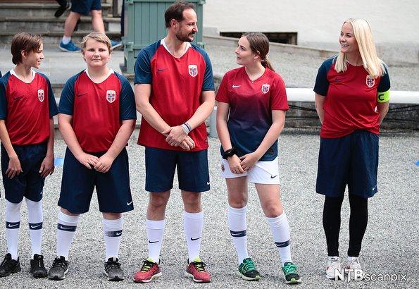 Crown Prince Haakon, Crown Princess Mette-Marit, Princess Ingrid Alexandra and Prince Sverre Magnus