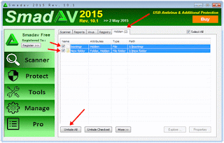 sandev antivirus hidden files detected