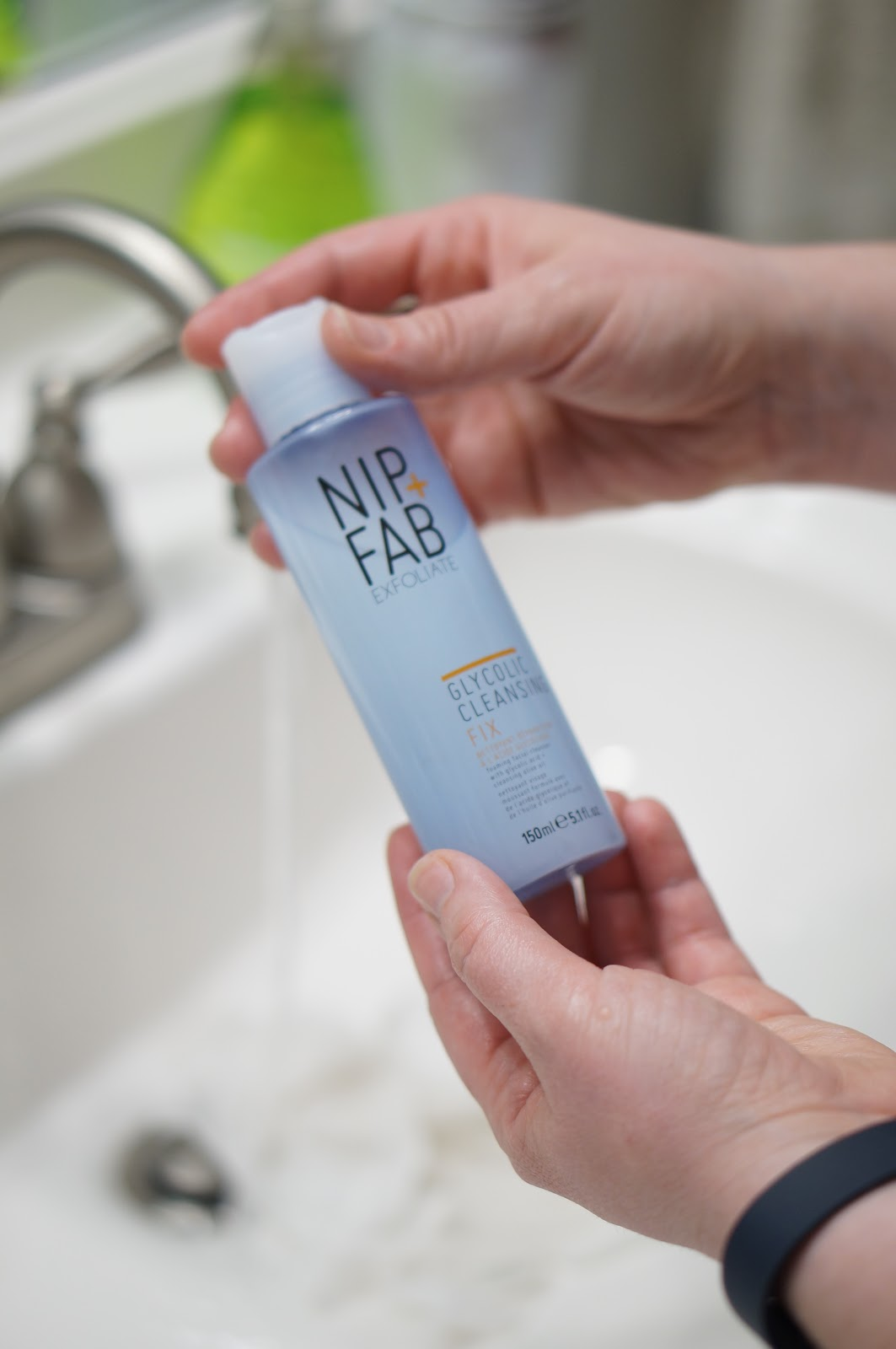 NIGHT TIME & MORNING SKINCARE ROUTINE with NIP AND FAB by North Carolina beauty blogger Rebecca Lately