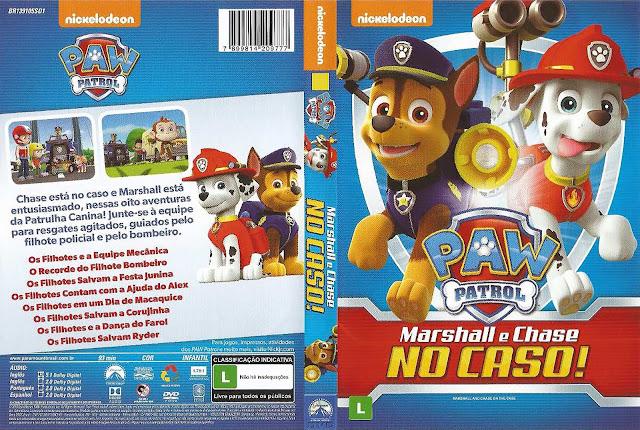 Capa DVD Paw Patrol Marshall E Chase No Caso