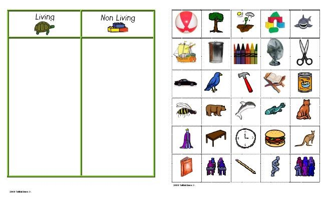 learning inspiration worksheet for living things and non living things. Black Bedroom Furniture Sets. Home Design Ideas