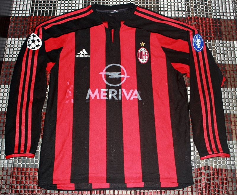 huge selection of cb0b5 74e9b White Trash: AUTHENTIC 2003-04 AC MILAN JERSEY UEFA MATCH(sold)