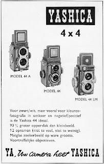Poster jadul iklan TLR Yashica 44 LM