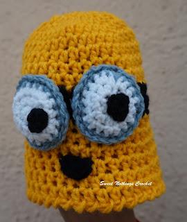 free crochet pattern, free crochet beanie pattern, free crochet hat pattern, free crochet new born baby cap pattern, free crochet preemie baby cap pattern, free crochet minion cap pattern, donation, donation ideas, Oswal Cashmilon, 4 mm crochet hook,