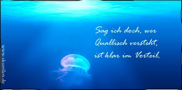 Quallen-Komik und Einsicht. Ozeanische Sprachen bringen eindeutige Vorteile. Im Comic und im Leben