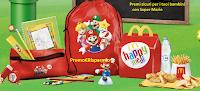Logo Da Mc Donald's kit Scuola Super Mario con Happy Meal