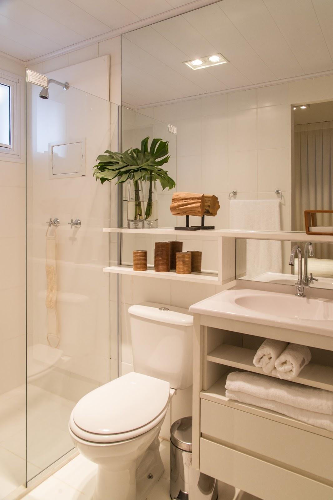 Blog Achados de Decoração  UM ADORÁVEL E PEQUENO APARTAMENTO DECORADO A MAD -> Banheiro Pequeno Lindo