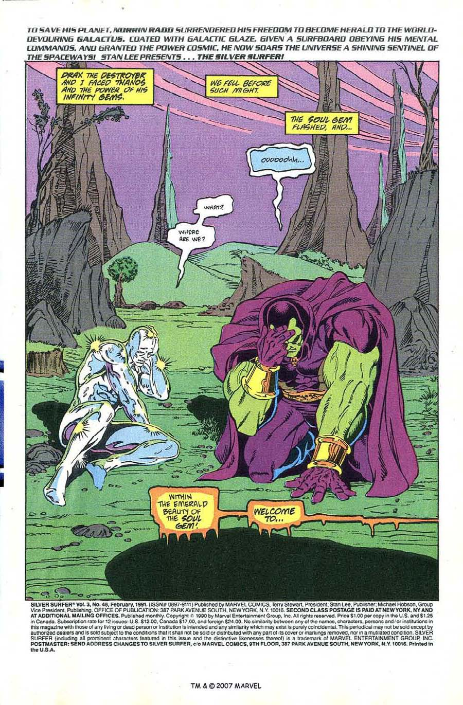 Read online Silver Surfer (1987) comic -  Issue #46 - 3