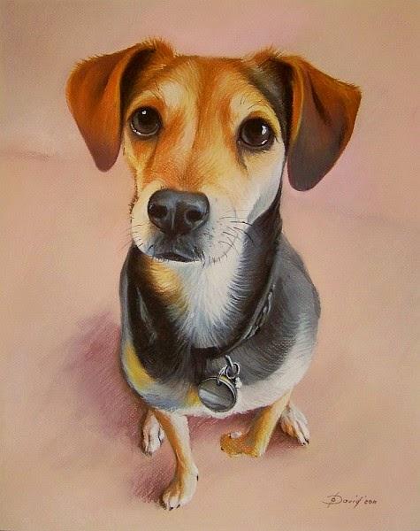 Hund Porträt vom Foto zeichnen bestellen