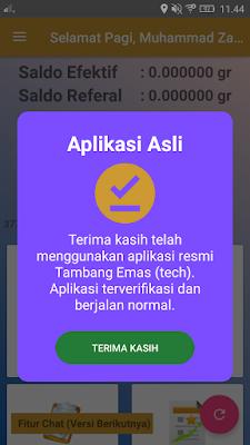 cara daftar di aplikasi tambang emas android