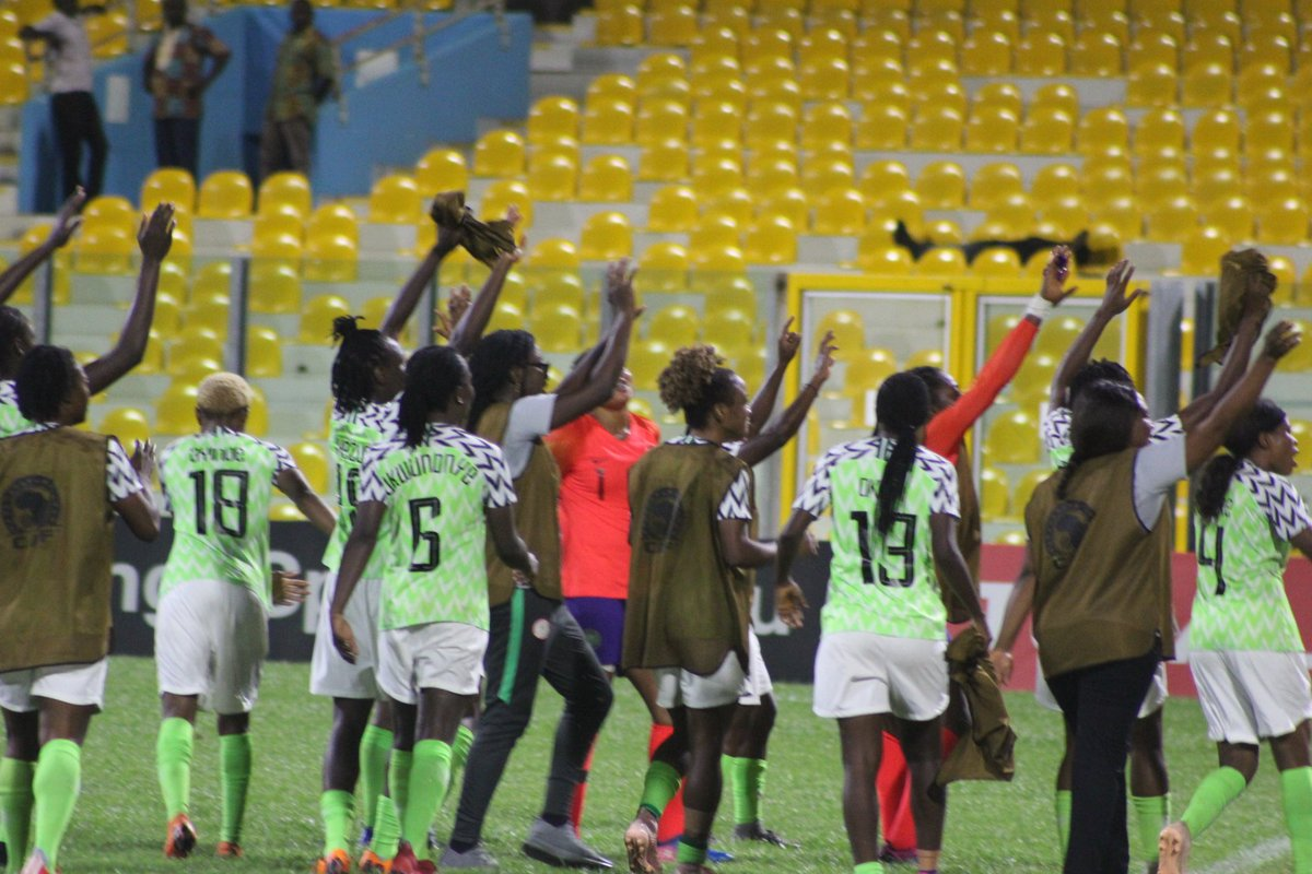 Super Falcons Victory Dance After Beating Cameroon 4 - 2 ...