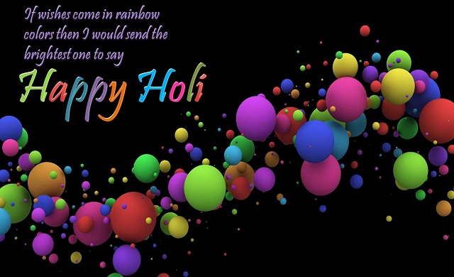 Happy Holi greetings for brother sister
