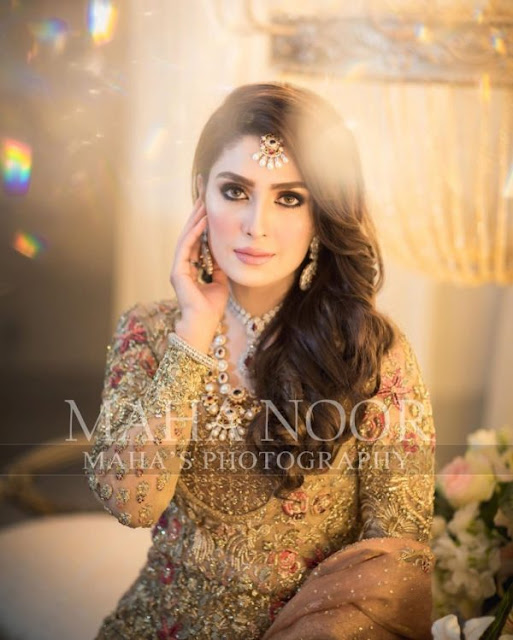 Ayeza Khan Latest Bridal Photo Shoot for Allure Salon
