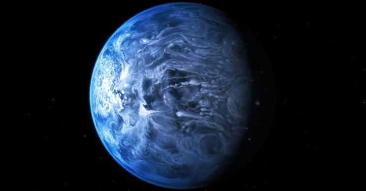 Cam yağan gezegen olarak bilinen HD 189733b parlak mavi bir renge sahiptir.