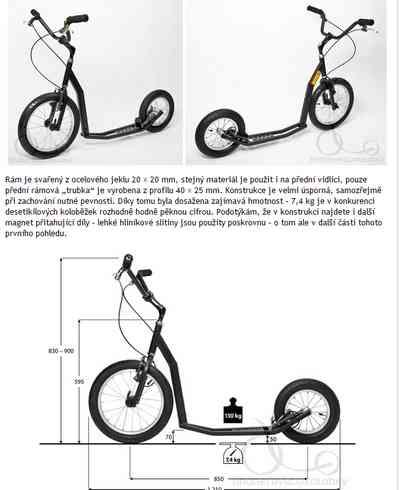 detalles de la patineta K-Bike K7