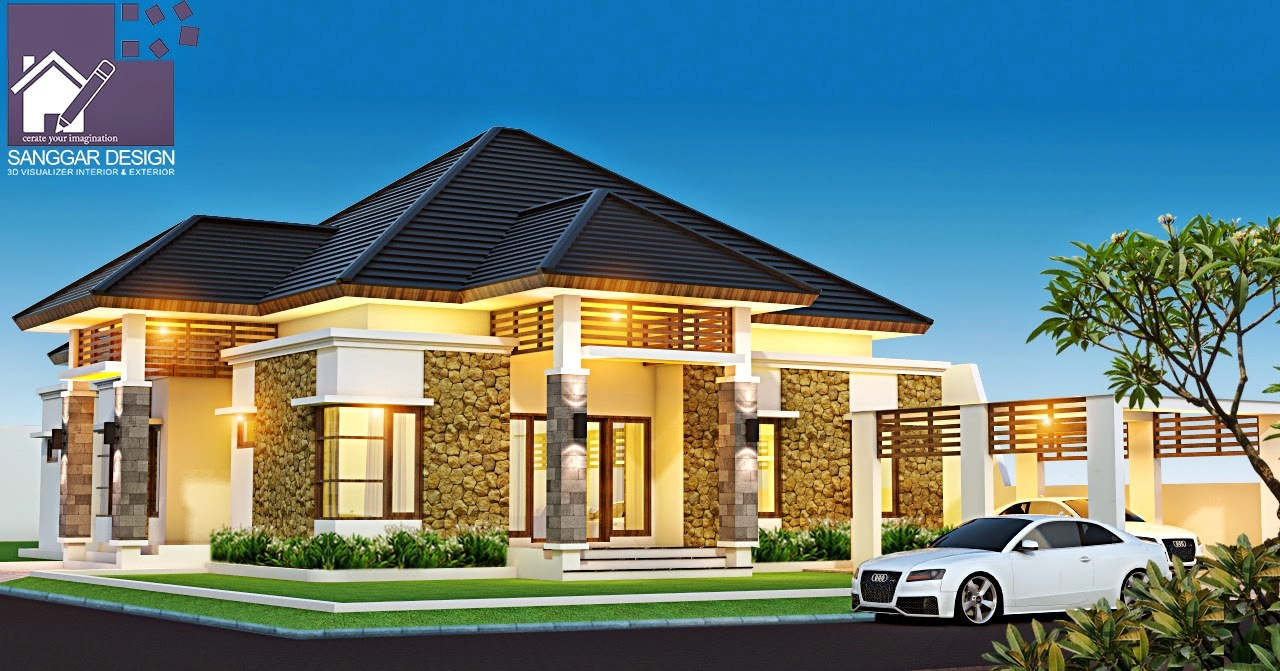 56 Desain Rumah Mewah 1 Lantai Lantai Modern Minimalis Terbaru