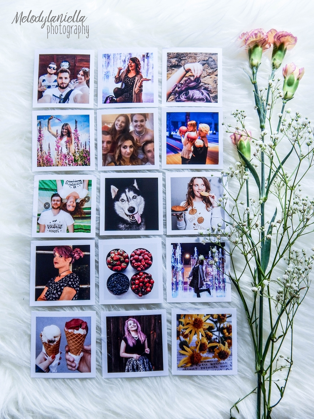 socialdruk kwadraty wywolywanie zdjec z instagrama polaroid wywolywanie fotografia pomysl na prezent nietypowe kwadratowe zdjecia w bialych ramkach duze kwadraty male kwadraty kwadratowe fotki
